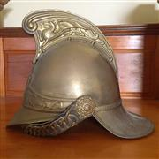 Sale 8878T - Lot 83 - Brass NSW Firemans Department Helmet, Reproduction from Original Dyes Circa 1984Height 24cm