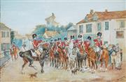Sale 8927 - Lot 2050 - W.M. Garling (C20th) - Cavalry Troop on Parade, 1921 30 x 46.5 cm