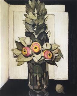 Sale 9099A - Lot 5076 - Margaret Preston (1875 - 1963) - Western Australian Gum Blossom 53.5 x 42.5 cm (frame: 98 x 83 x 3 cm)