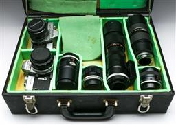Sale 9144 - Lot 21 - Cased Minolta  SRT101 Cameras With A Group Of Lenses