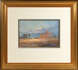 Sale 9256H - Lot 57 - Mel Brigg - Old Barn Near Wagga Wagga signed lower left, ex Joans Ridge St Gallery, 1993.