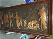 Sale 8449 - Lot 2075 - Framed Copper Plaque of Grecian Scene