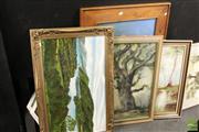 Sale 8468 - Lot 2059 - Group of 3 Framed Landscapes incl J. Nolen & Monet Style Artwork (4)