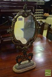 Sale 8542 - Lot 1004 - Brass Framed Vanity Mirror