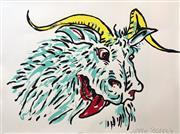 Sale 8609A - Lot 5031 - Adam Cullen (1965 - 2012) - Goat 57 x 77cm