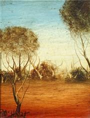 Sale 8732 - Lot 572 - Kevin Charles (Pro) Hart (1928 - 2006) - Landscape 11 x 8.5cm