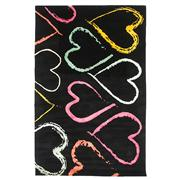 Sale 8820C - Lot 32 - A Nepal Multi Colour Hearts Design in Tibetan Highland Wool & Chinese Silk 224x145cm