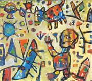 Sale 8870A - Lot 519 - Peter Ferguson (1956 - ) - A Boy and His Dog 71 x 81cm