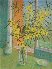 Sale 8980A - Lot 5013 - Una Foster (1912 - 1996) - Acacia Longifolia 80.5 x 61.5 cm (frame: 92 x 72 x 4 cm)