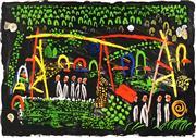 Sale 8992 - Lot 507 - Colin Lancely (1938 - 2015) - Night Garden, 1997 63 x 90 cm (frame: 85 x 108 x 5 cm)