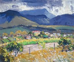 Sale 9067 - Lot 561 - Herbert Reginald Gallop (1890-1958) - Gerringong, New South Wales 36.5 x 44.5 cm (frame: 54 x 62 x 4 cm)