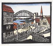 Sale 9042A - Lot 5098 - Margaret Preston (1875 - 1963) - Sydney Bridge 25.5 x 31 cm (frame: 67 x 67 x 3 cm)