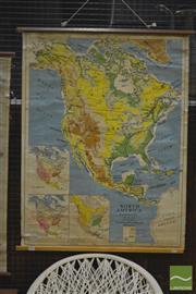 Sale 8287 - Lot 1088 - H.E.C Robinson Vintage School Map of North America