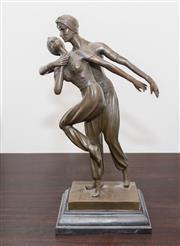 Sale 8338A - Lot 80 - A cast bronze group of the Ballet Russe, H 36cm