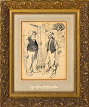 Sale 8344 - Lot 537 - Norman Lindsay (1879 - 1969) - Difficult anyway you look at it 24.6 x 19.3cm