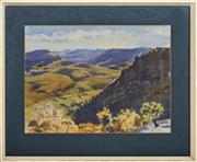 Sale 8374 - Lot 597 - John Goodchild (1898 - 1980) - Jamison Valley 33.5 x 45.5cm