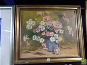 Sale 8407T - Lot 2050 - Framed Oil Painting on Canvas Board of a Still Life, Signed Jean McKellar