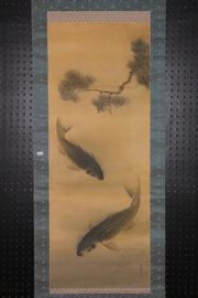 Sale 8445 - Lot 70 - Chinese Carp Scroll