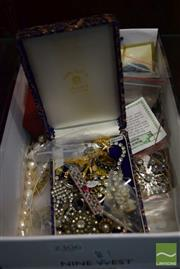 Sale 8518 - Lot 2306 - Box of Costume Jewellery including Cultured Pearls