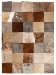 Sale 8586A - Lot 78 - A patchwork rug constructed from various pelts, with fabric lining to rear, as new, 139 x 101cm