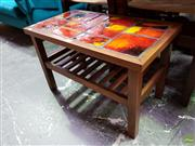 Sale 8607 - Lot 1074 - Tiled Top Coffee Table with Shelf Below