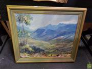 Sale 8619 - Lot 2010 - Artist Unknown - The Country Valley, oil on board, 61 x 71 frame, unsigned