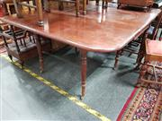 Sale 8697 - Lot 1067 - Victorian Mahogany Drop-Leaf Dining Table, with turned legs & gateleg action