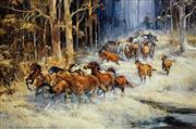 Sale 8756A - Lot 5028 - D Arcy Doyle (1932 - 2001) - The Man from Snowy River II 64 x 86cm (sheet size)