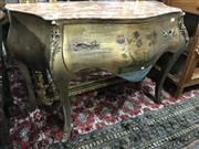 Sale 8822 - Lot 1589 - Marble Top Bombe Style Chest woth Brass Mounts - 249