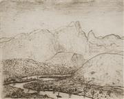 Sale 8892 - Lot 506 - Lloyd Rees (1895 - 1988) - Tweed Valley, NSW 20 x 24.5 cm