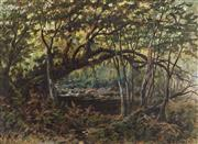 Sale 8929 - Lot 549 - Harold Septimus Power (1878 - 1951) - Boughs over the Creek 23.5 x 33.5 cm