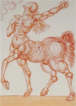 Sale 9096A - Lot 5030 - Salvador Dali (1904 - 1989) - The Centaur 33 x 25.5 cm (frame: 64 x 57 x 3 cm)
