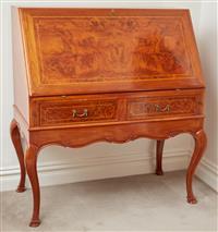 Sale 9090H - Lot 81 - A Custom made cherrywood bureau by Antony Loneragan. Height 110cm x Width 100cm x Depth 57cm