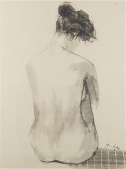Sale 9118A - Lot 5028 - Dao Thanh Dzuy (1959 - ) - Nude 02, 1994 68 x 51.5 cm