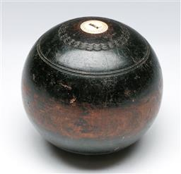 Sale 9144 - Lot 73 - A bowling ball marked DMR