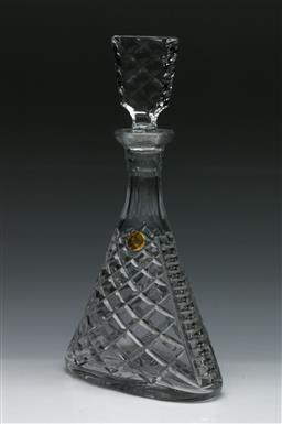 Sale 9148 - Lot 83 - A Vintage MCM Nachtmann Bleikristall Whiskey Decanter, Original Paper label, (H:31cm)