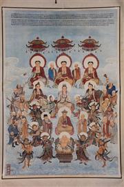 Sale 8445 - Lot 69 - Chinese Buddhas Scroll