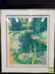 Sale 8491 - Lot 2030 - Artist Unknown (French School) - Pond 50 x 45.5cm