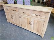 Sale 8601 - Lot 1332 - Parquetry Elm Sideboard with Three Drawers & Six Doors