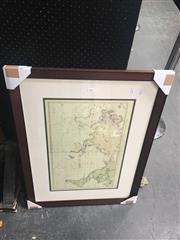 Sale 8707 - Lot 2045 - Framed Print of Vintage Map