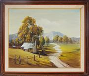Sale 8964 - Lot 2021 - Jean (John) Sindelar (1941 - c2012) - Country New South Wales 47.5 x 58 cm (frame: 62 x 72 x 5 cm)