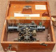Sale 8984W - Lot 541 - A Cooke Troughton and Simms Ltd level I internal focusing telescope with Stadia lines in a fitted case. Width 34cm