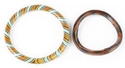 Sale 9190E - Lot 85 - Two bangles, larger Diameter 8cm