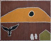 Sale 8288A - Lot 51 - Barry Malgil (1978 - ) - Jinggeraguny - Stealing Bird 80 x 100cm (framed & ready to hang)