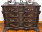 Sale 8338A - Lot 82 - A carved Baroque style four drawer commode, with brass mounts, H 86 x W 114 x D 54cm