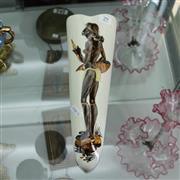 Sale 8351 - Lot 29 - The Little Sydney Pottery Aboriginal Themed Wall Pocket