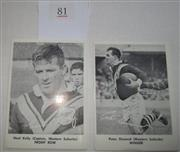 Sale 8404S - Lot 81 - Western Suburbs Daily Mirror Cards 1967 – Peter Dimond, Noel Kelly