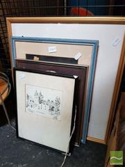 Sale 8478 - Lot 2065 - Collection of Framed Artworks incl Colour Proof entitled 1066 (4)