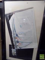 Sale 8513 - Lot 2072 - Wendy Stokes (1957 - ) - Pier Variation, 1987 (diptych) 69.5 x 44.5cm; 69.5 x 97.5cm (frame size: 97.5 x 174.5cm) (2)