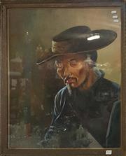 Sale 8636 - Lot 2087 - Ivan Gerasimov (act. 1945 - 1954) - Elder 71.5 x 57.5cm -